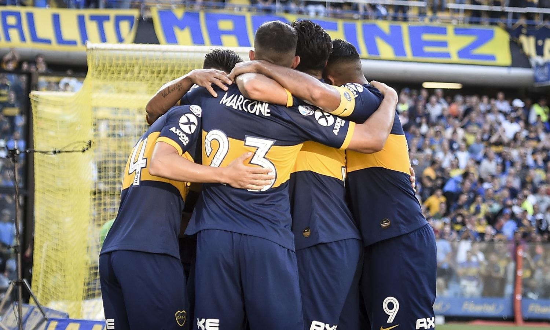 Boca derrotó 2-0 a Unión en La Bombonera y es líder de la Superliga