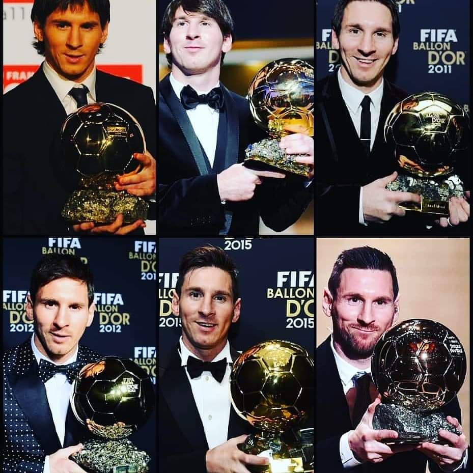 Messi conquistó su 6to Balón de Oro