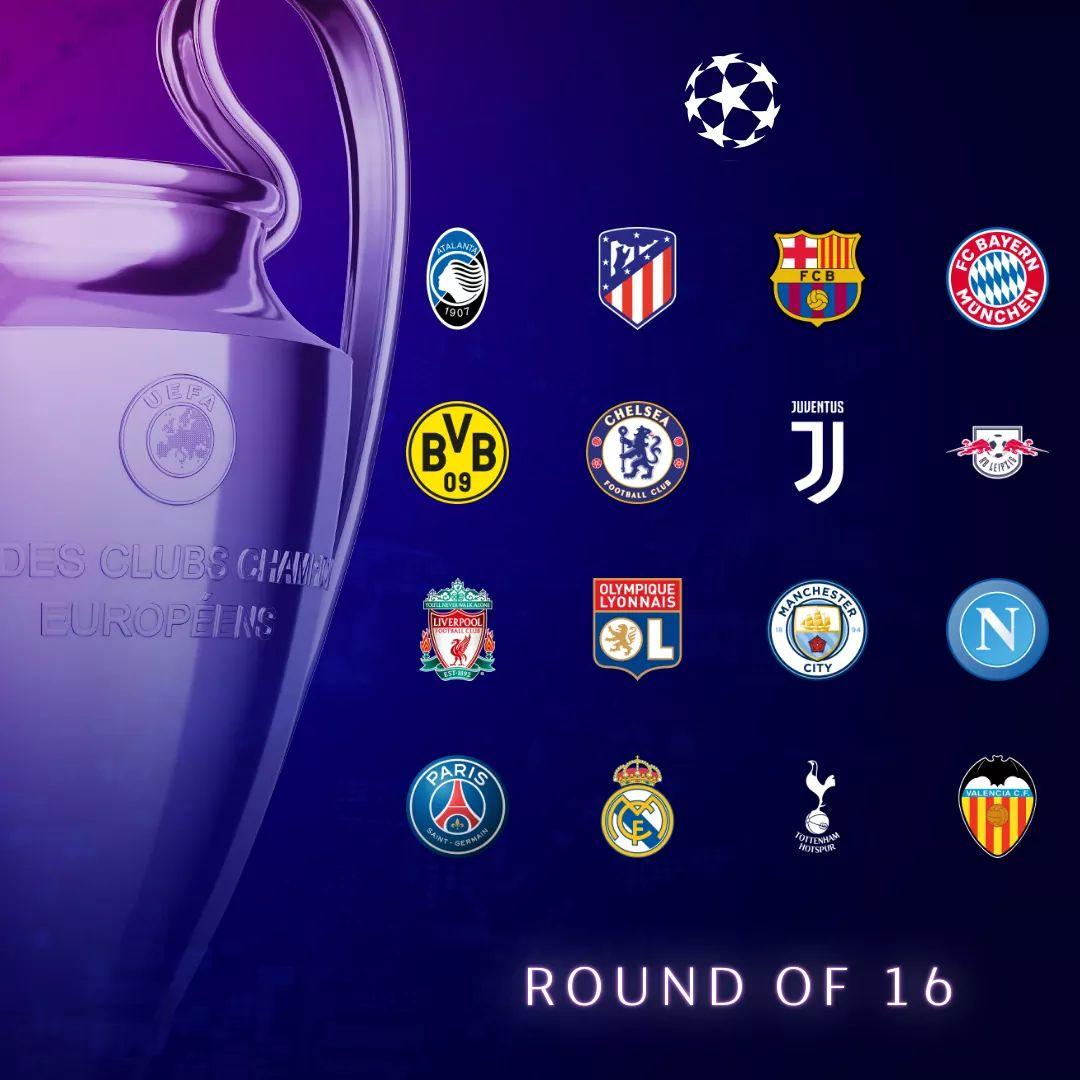Estos son los 16 clasificados a los Octavos de Final de la Champions League