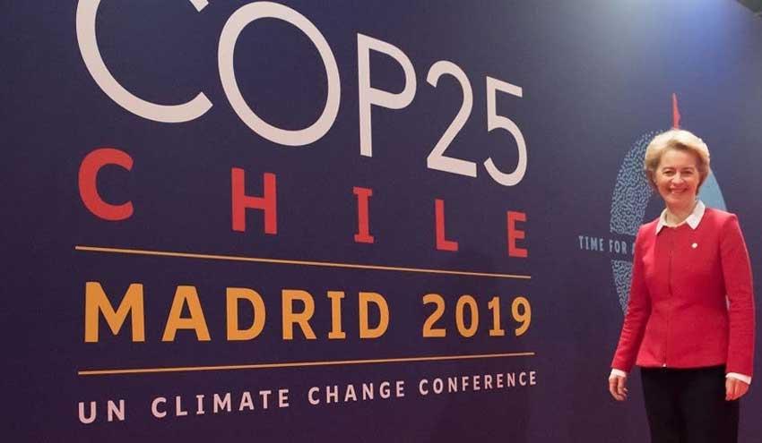 Discurso de Ursula von der Leyen en la apertura del COP 25