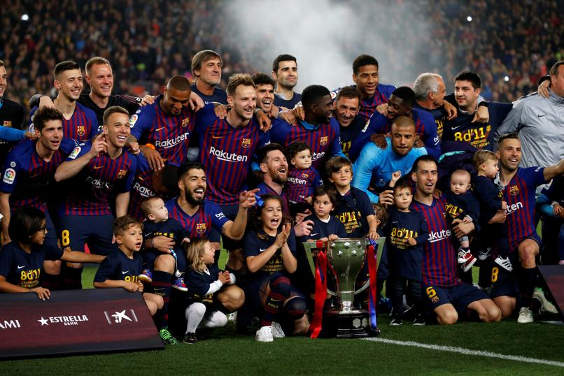Con gol de Messi el Barcelona conquistó la Liga Española