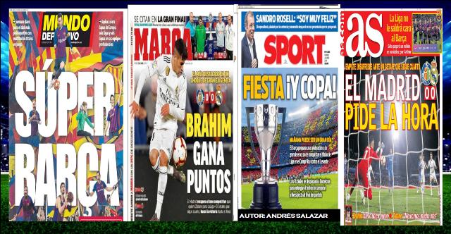 Mira las Portadas de la Prensa Deportiva de hoy 26 de Abril