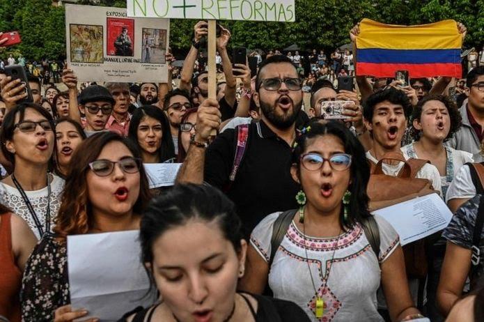 Nueva movilización en Colombia para este lunes 16 de diciembre