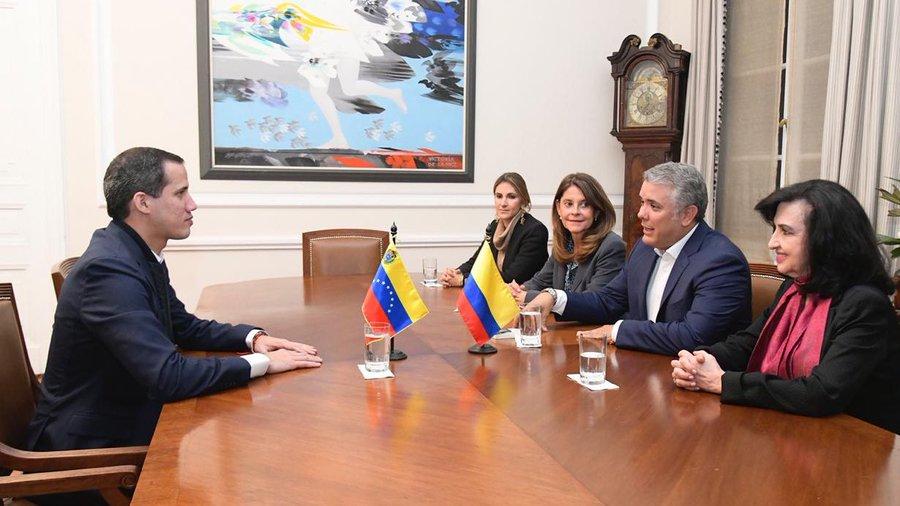 Iván Duque y Guaidó se reunieron en Bogotá